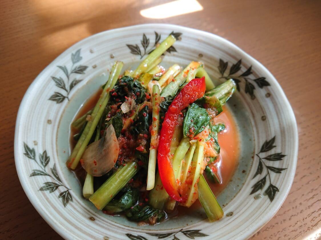 ヨルムキムチ(小松菜のキムチ)
