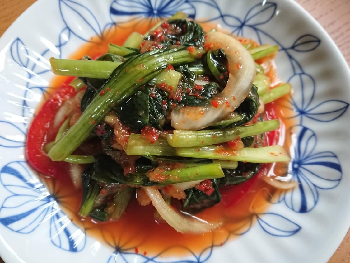 美味しいヨルムキムチ(小松菜のキムチ)の完成