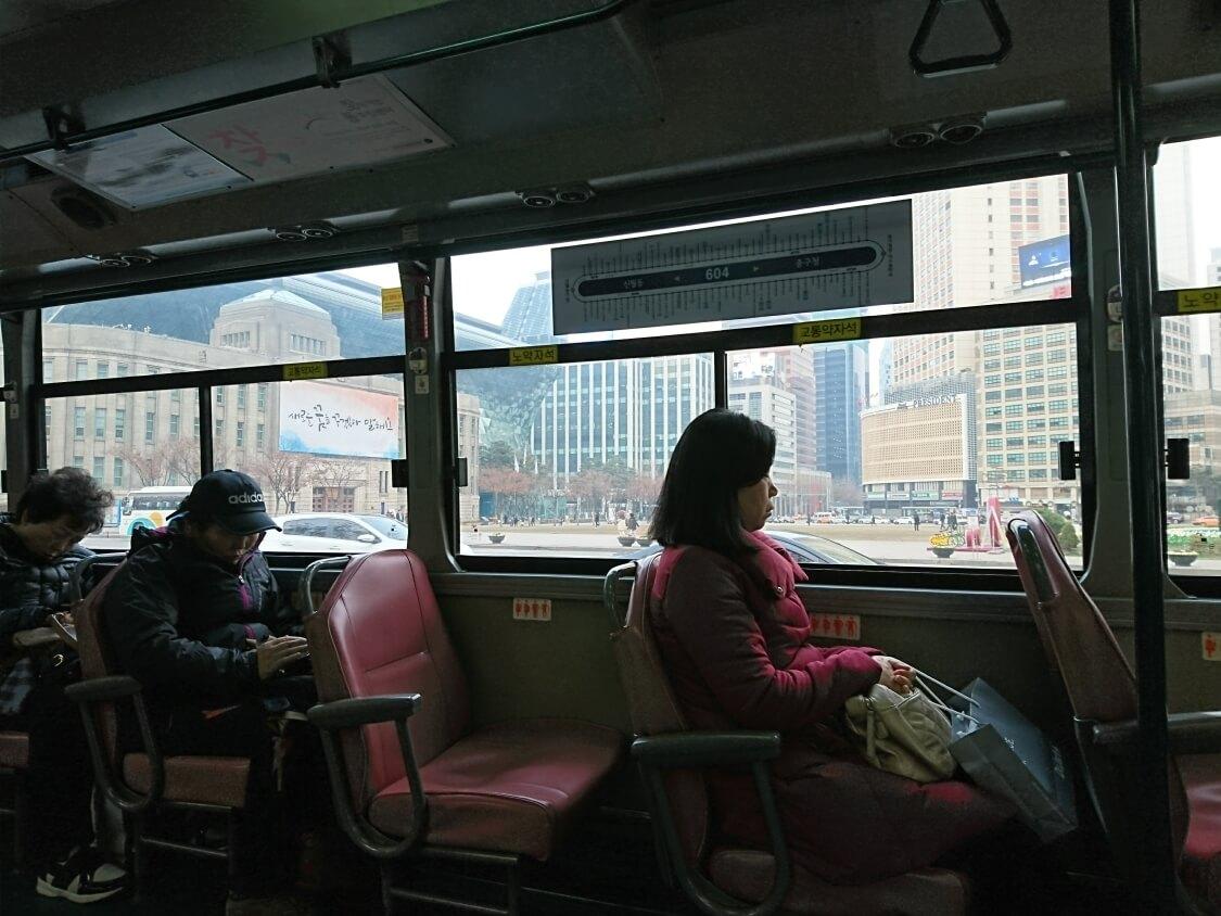 韓国バスからの風景