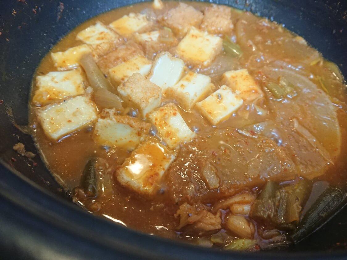 太刀魚の煮付け(カルチチョリム)の残り汁リメイク