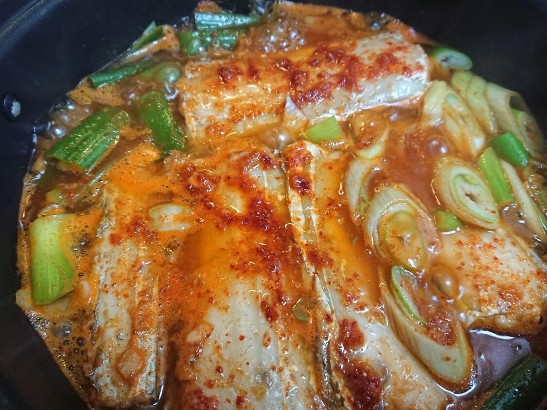 太刀魚の煮付け(カルチチョリム)のレシピ
