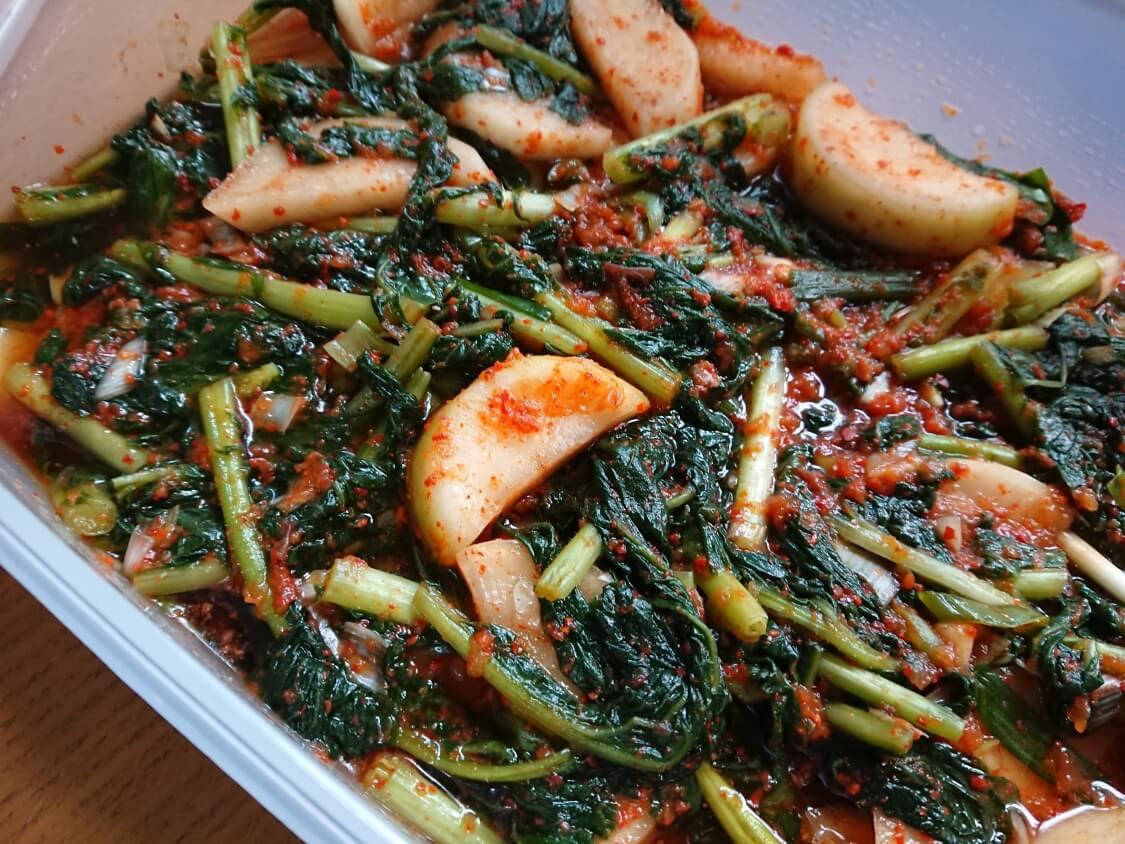 大根の葉入り!カクテキキムチの韓国レシピ。発酵による味の変化