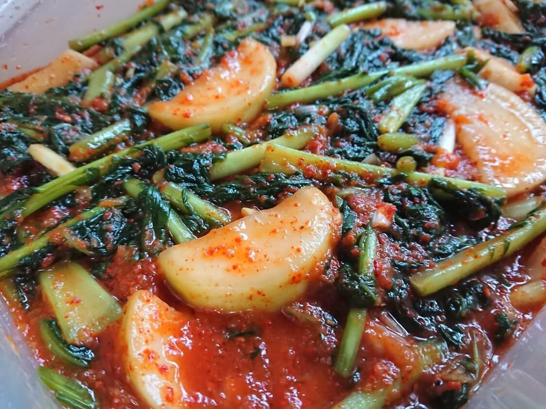 大根の葉入り!カクテキキムチの韓国レシピ。完成