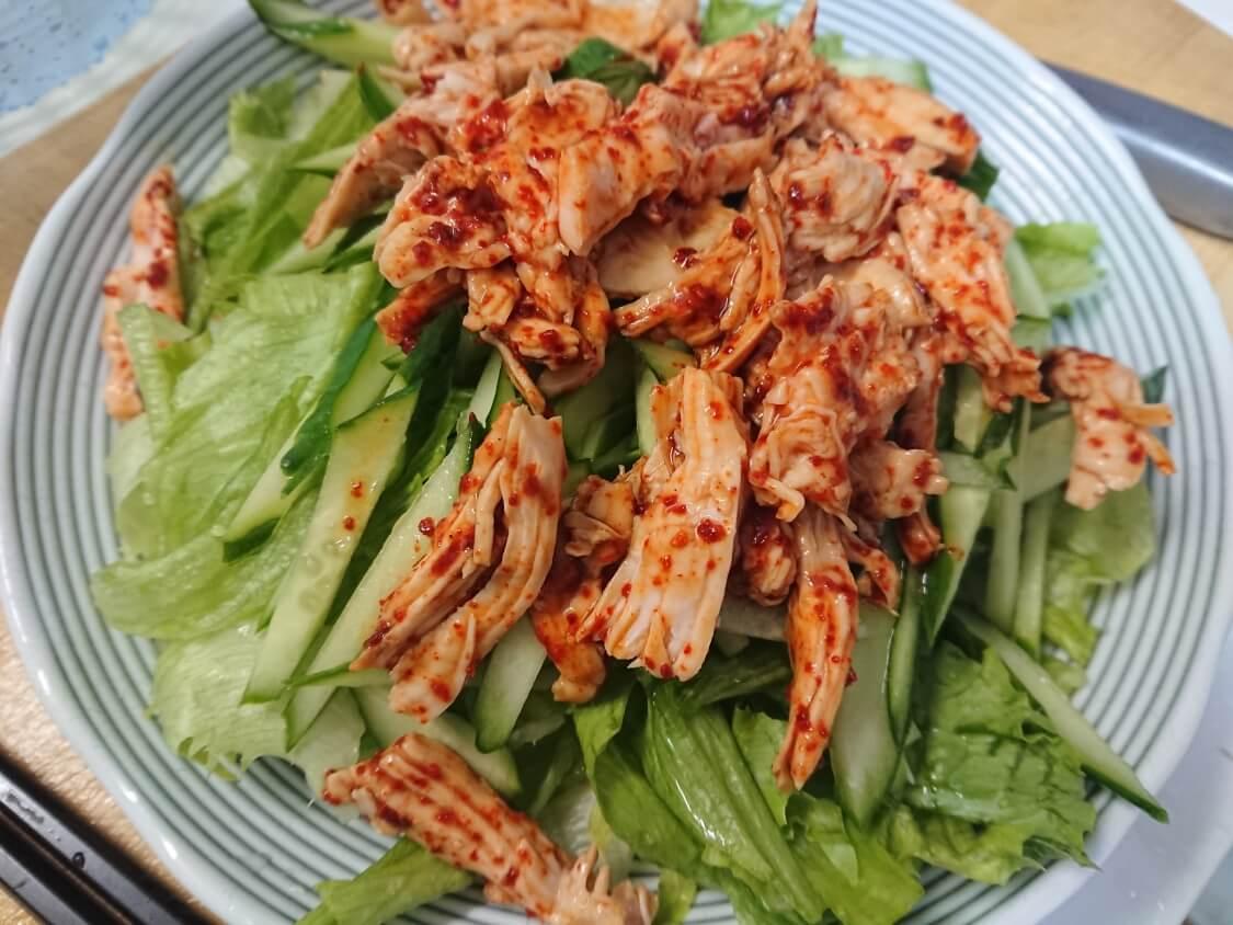 ヘルシービビンバのレシピ。胸肉の味付け
