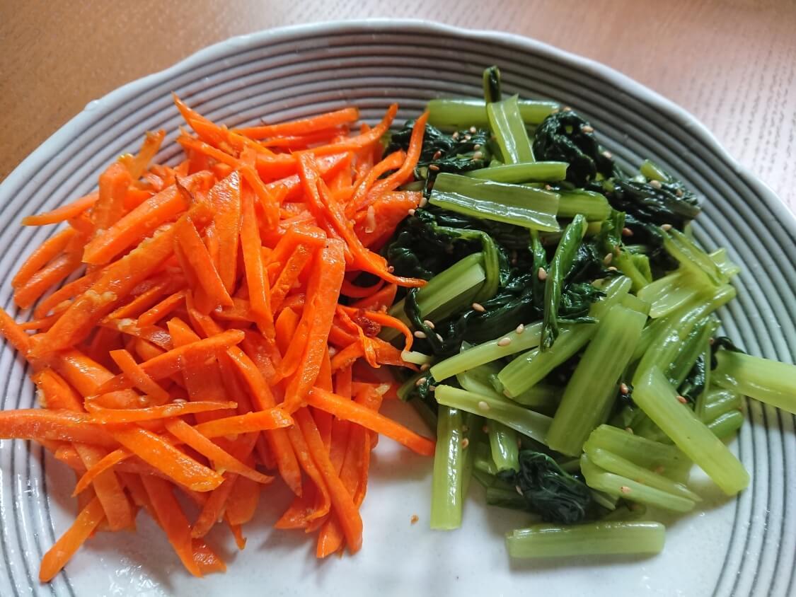 ヘルシービビンバのレシピ。人参のナムルの作り方