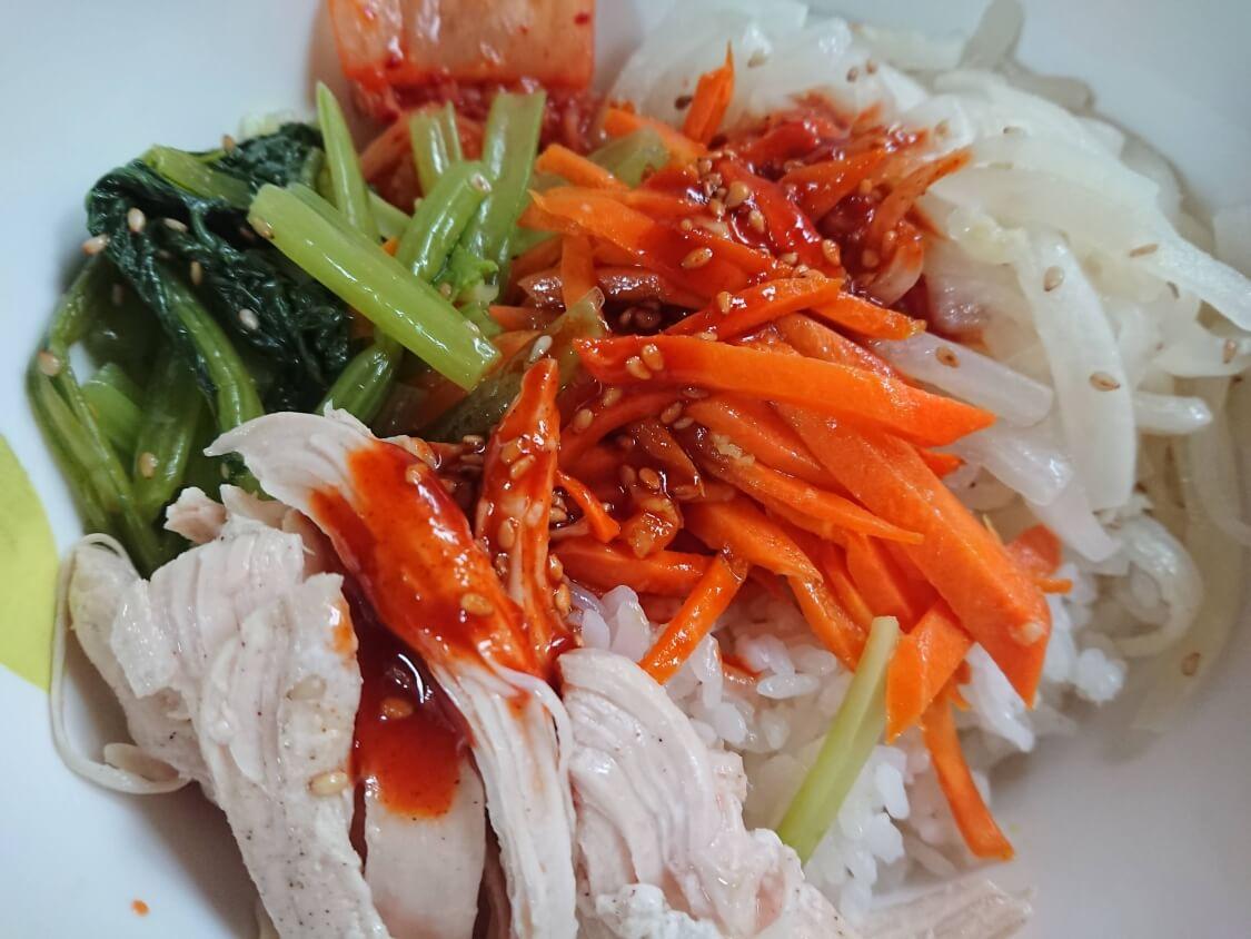 ヘルシービビンバのレシピ。盛り付けと食べ方