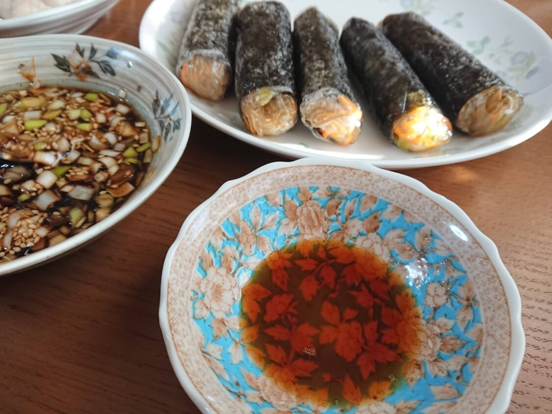 春雨の海苔巻き揚げ(キムマリ)のレシピ。よく合うタレ