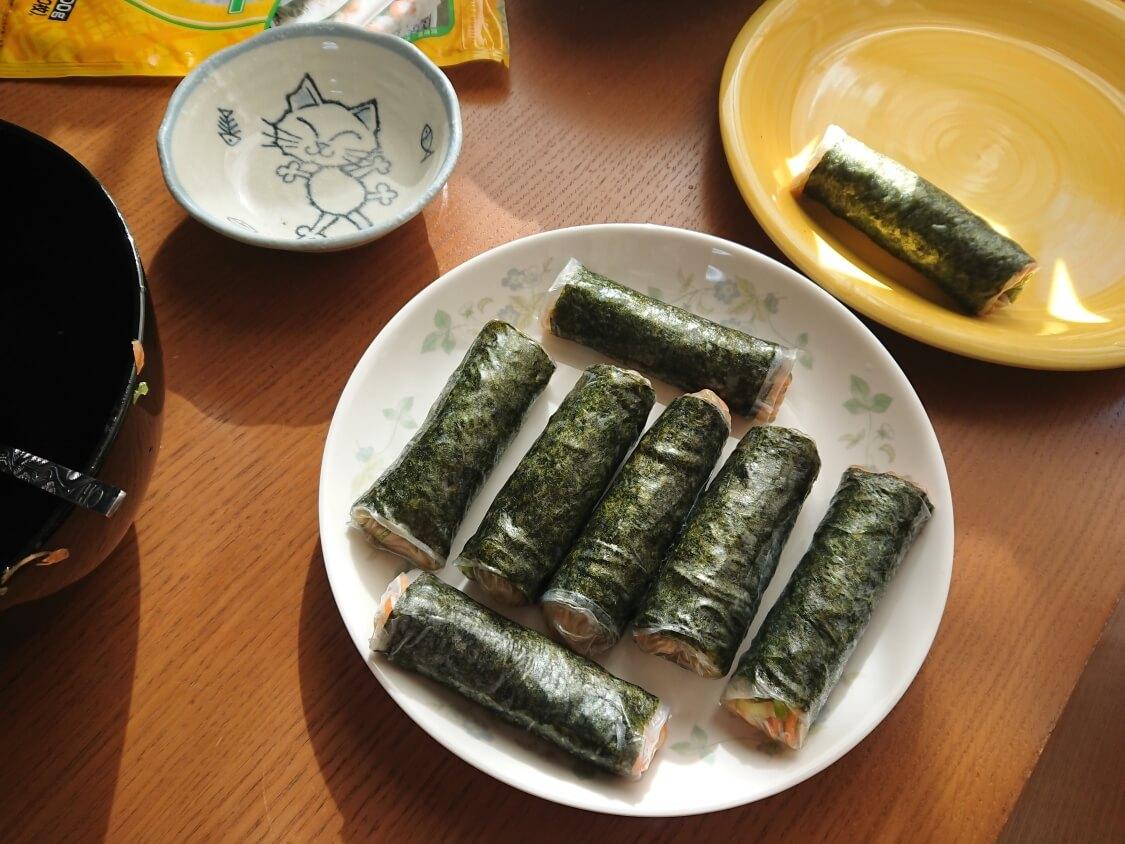 春雨の海苔巻き揚げ(キムマリ)の作り方