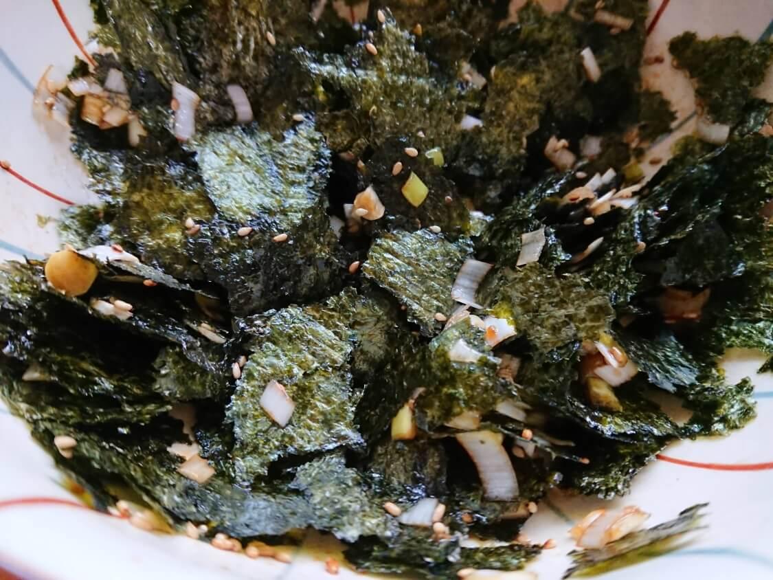 簡単!海苔の和え物の作り方