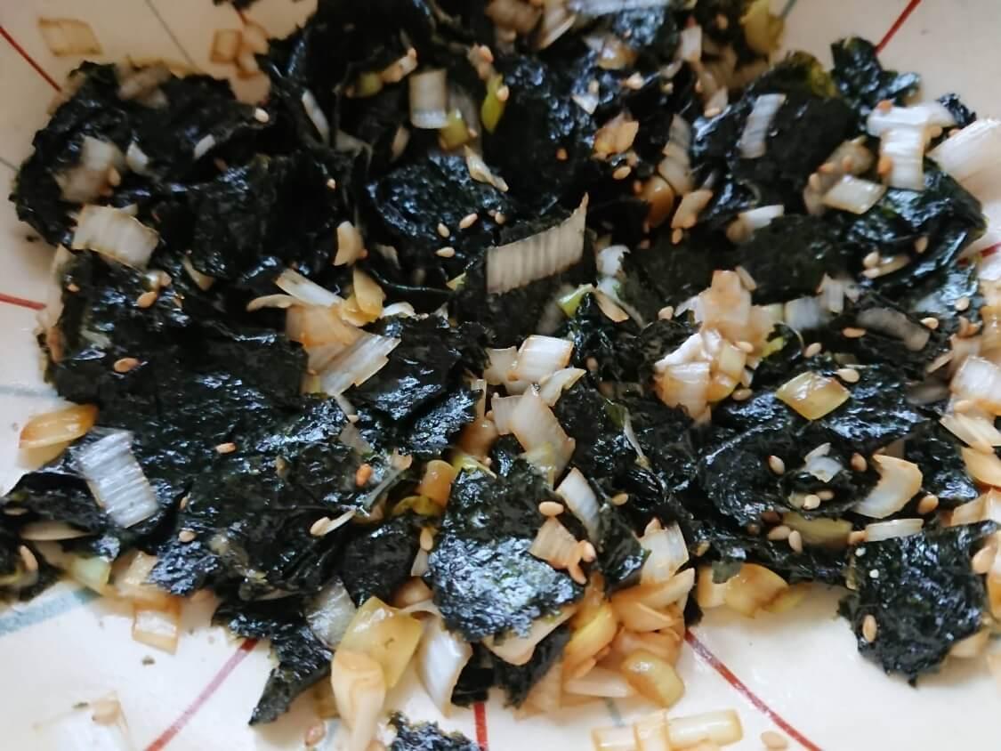 簡単!海苔の和え物のレシピ
