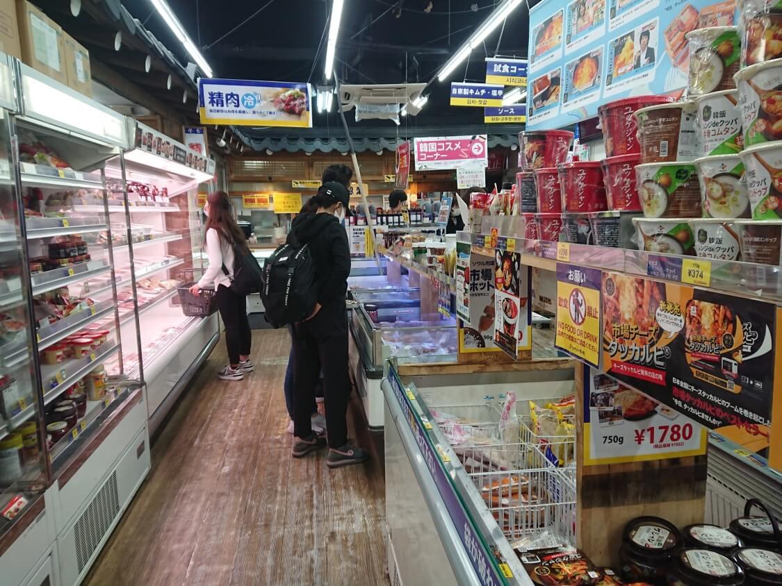 新大久保「ソウル市場」練り物、参鶏湯など
