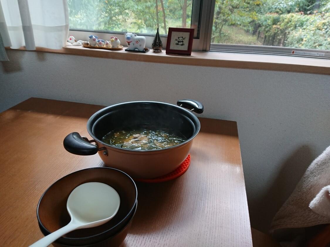 牛肉入りわかめスープの作り方。完成
