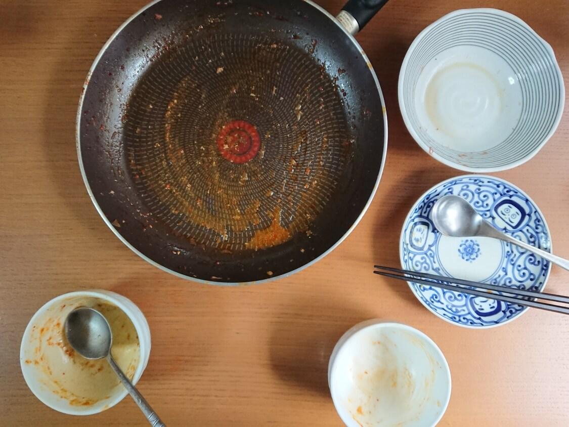 チゲ風♪豚肉とじゃがいものコチュジャン炒め煮。完食