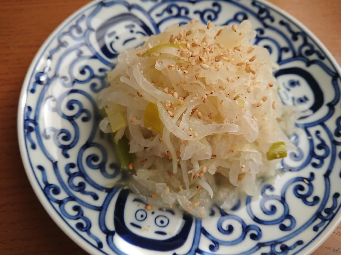 大根のナムルの簡単レシピ。盛り付け