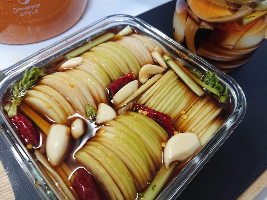 焼肉・サムギョプサル用大根の酢漬け「サンム」の作り方。調味料・味付け