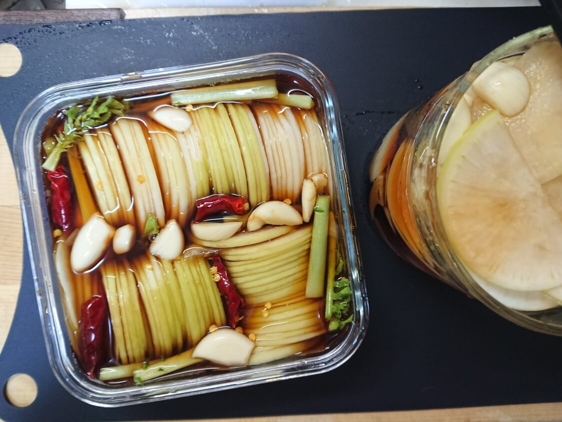 焼肉・サムギョプサル用大根の酢漬け「サンム」の作り方