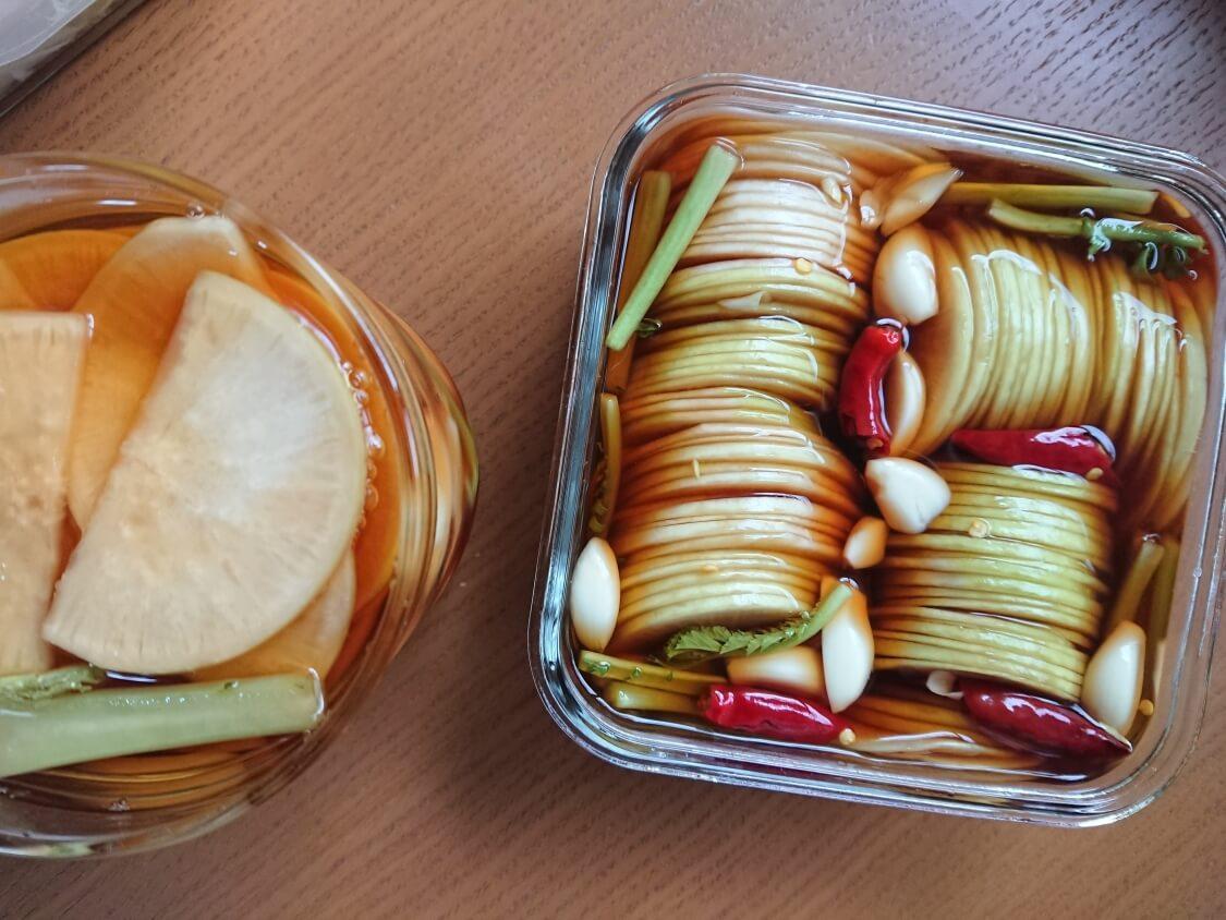 焼肉・サムギョプサル用大根の酢漬け「サンム」の作り方。食べごろ