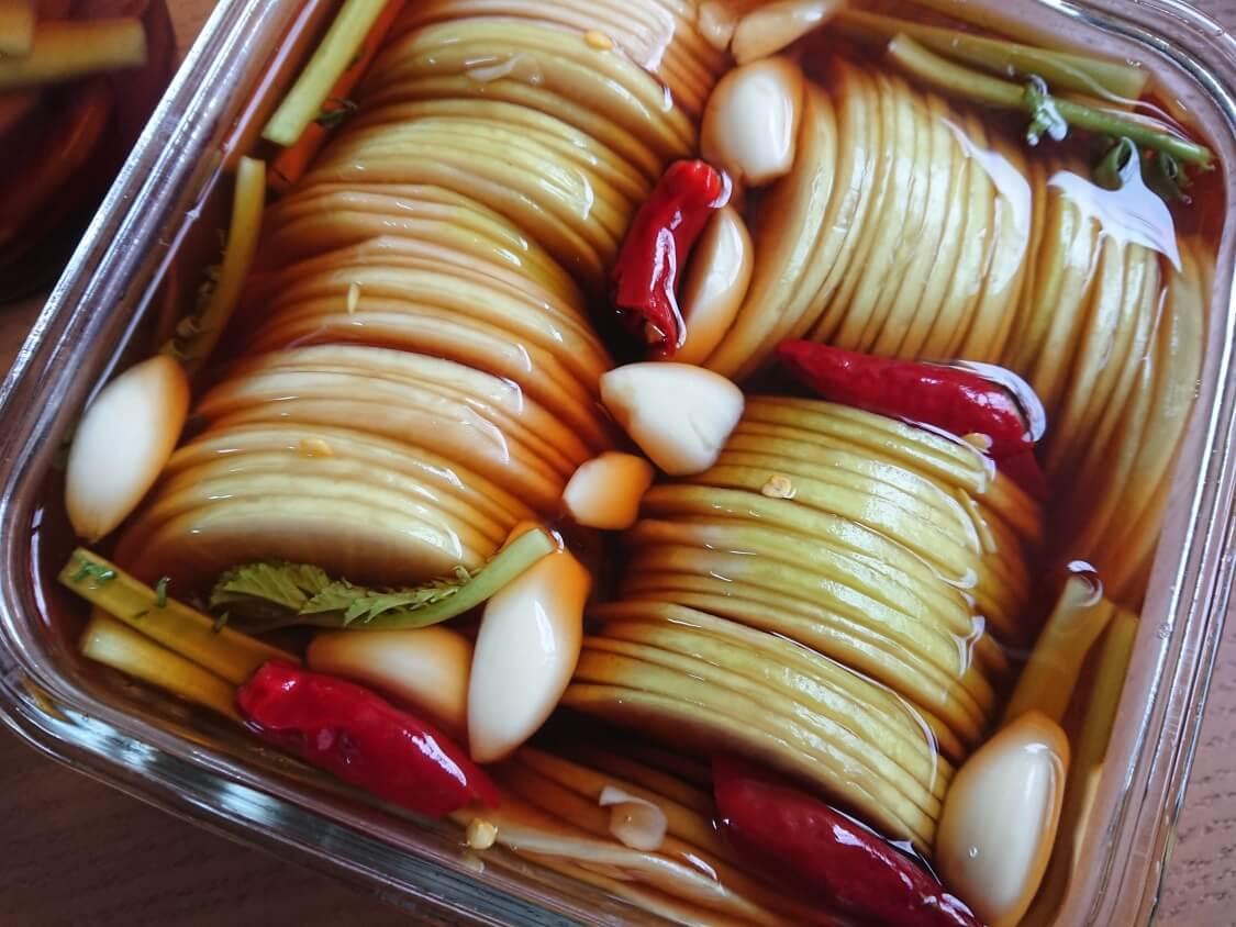 焼肉・サムギョプサル用大根の酢漬け「サンム」の作り方。完成