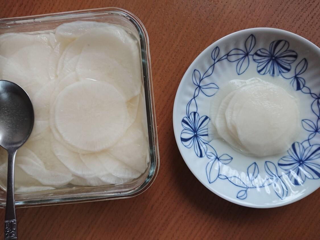焼肉・サムギョプサル用大根の酢漬け「サンム」の作り方。塩味でシンプル簡単