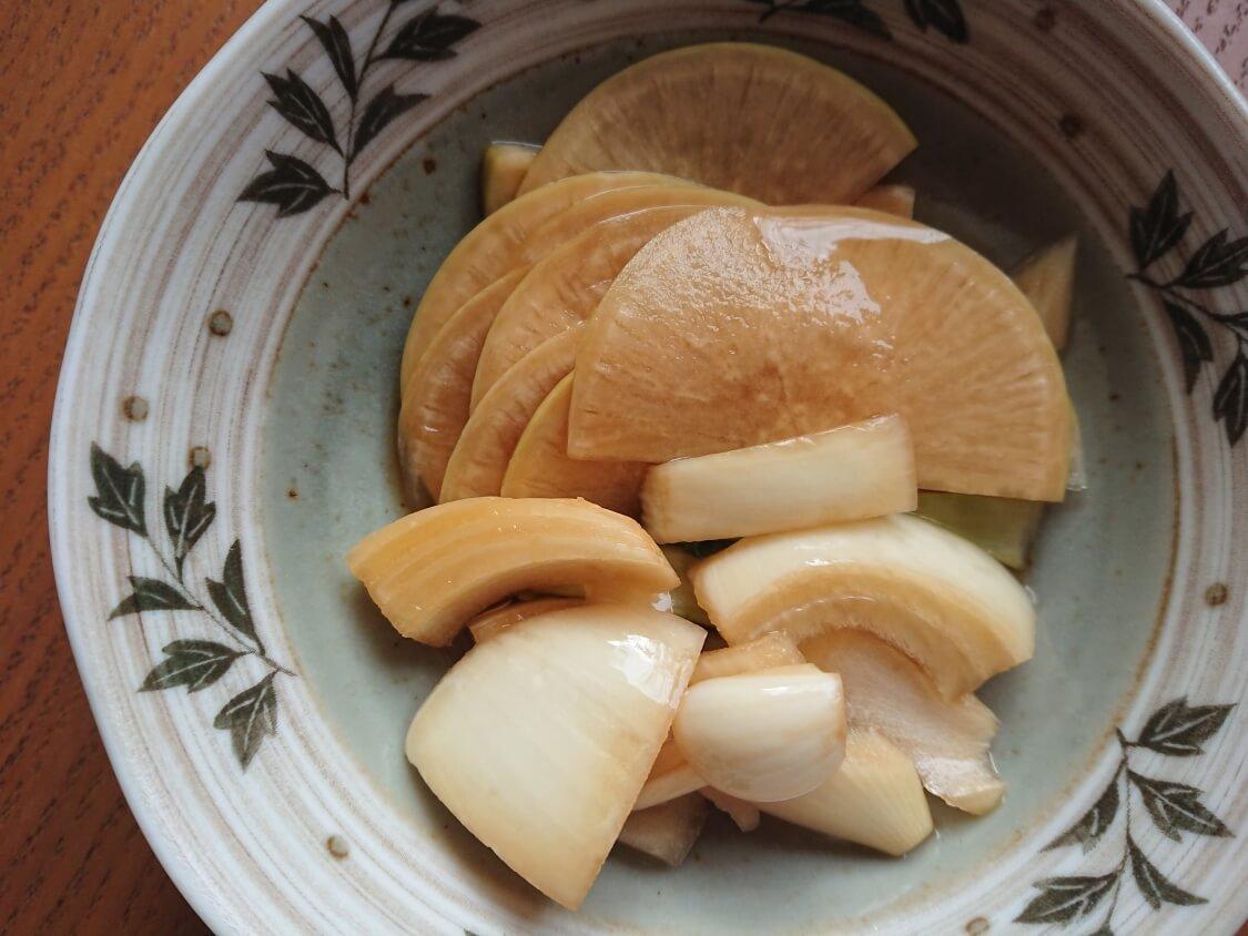 焼肉・サムギョプサル用大根の酢漬け「サンム」の作り方。味