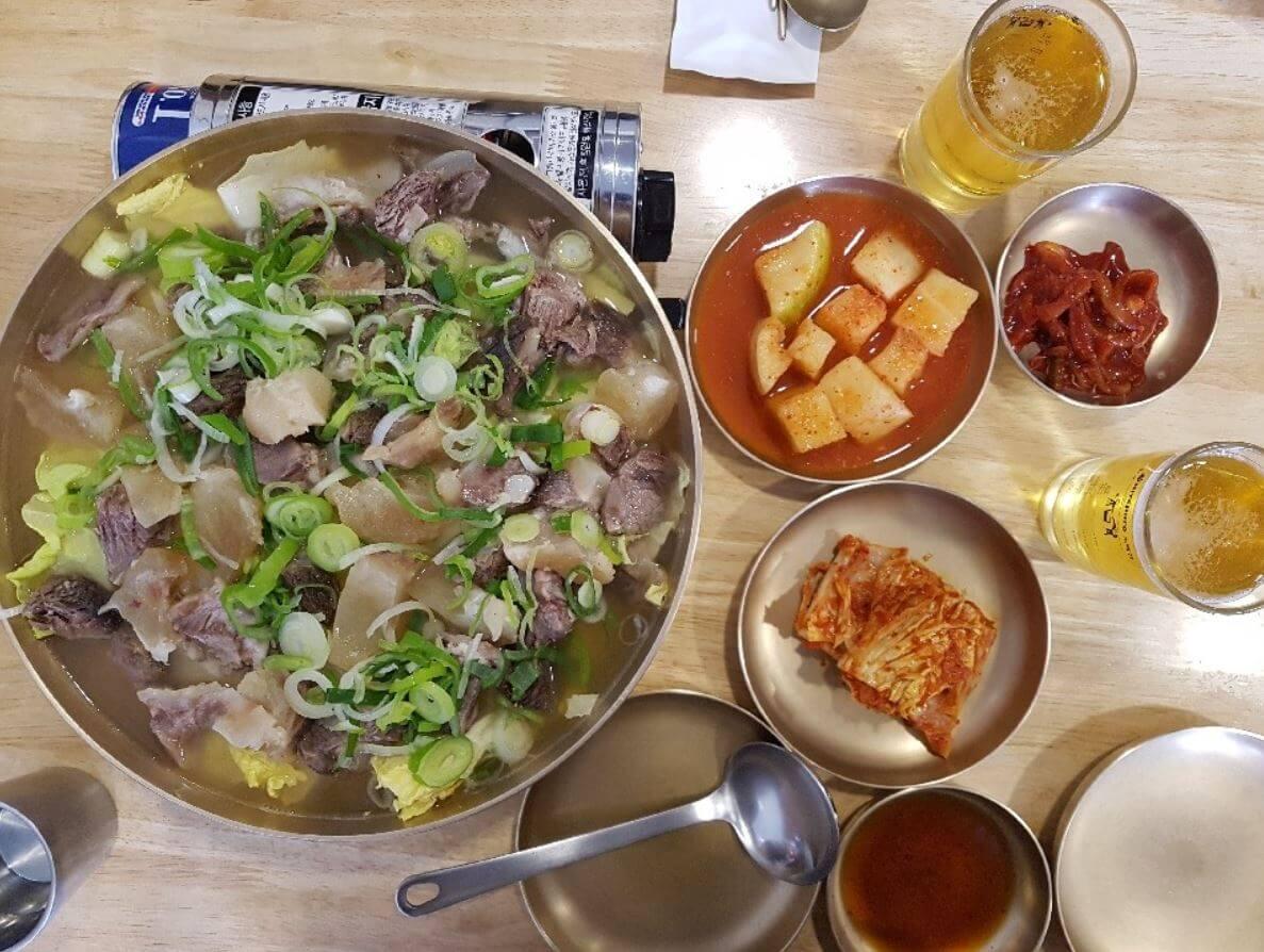 韓国のスユク料理