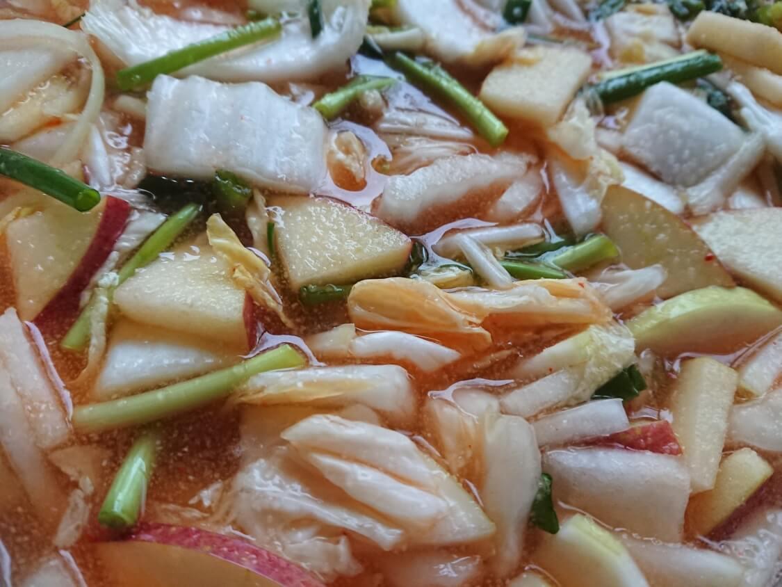 水キムチの簡単レシピ。完成