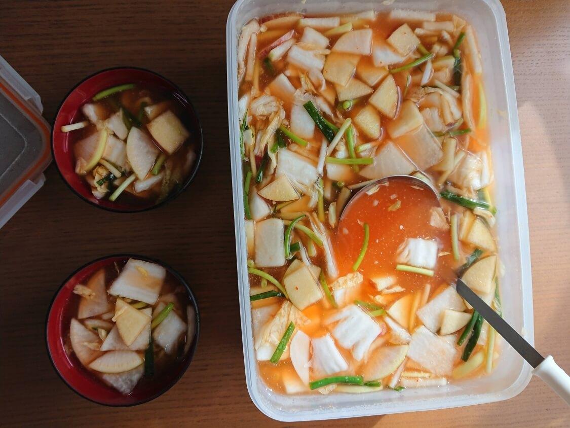 白菜たっぷり水キムチのレシピ