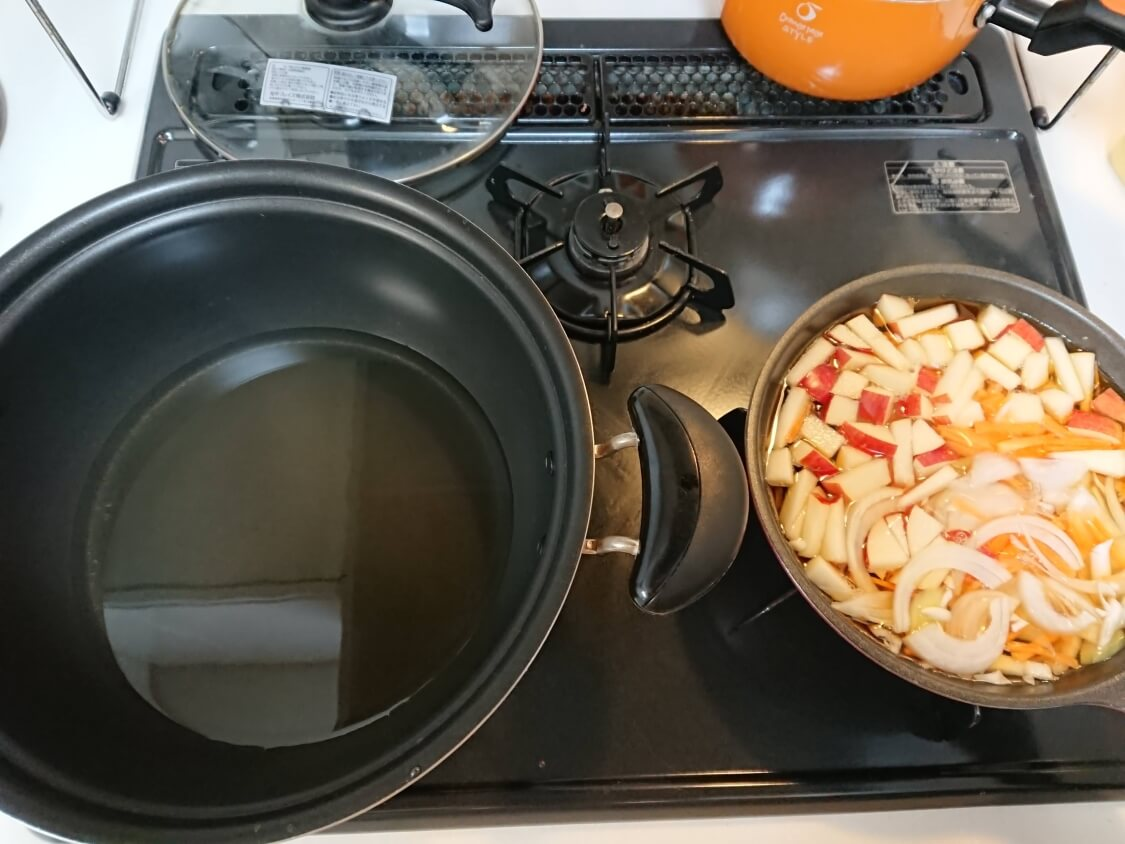 酢豚の人気レシピ。揚げる準備(韓国タンスユク)