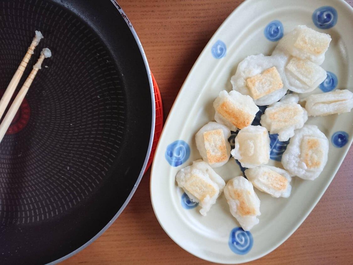 ヤンニョム揚げ餅の作り方。フライパンで簡単!揚げ焼き