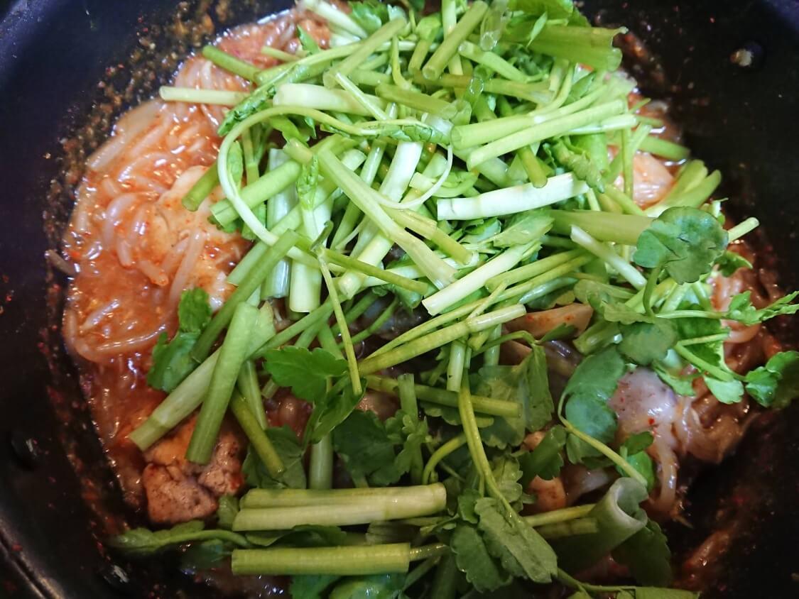 旨辛!あんこうの蒸し煮・アグチムの作り方。追加野菜