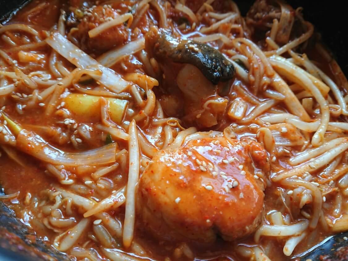 旨辛!あんこうの蒸し煮・アグチムの韓国レシピ