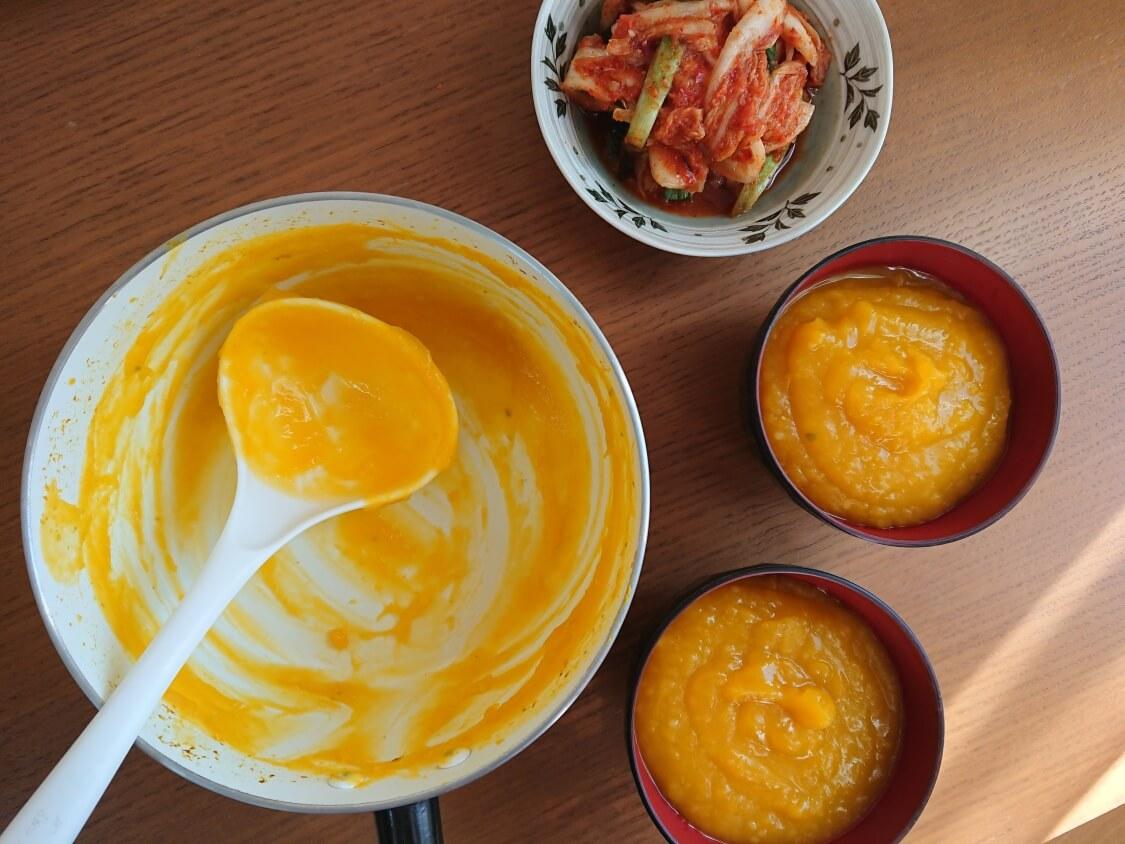 かぼちゃのお粥、韓国レシピ