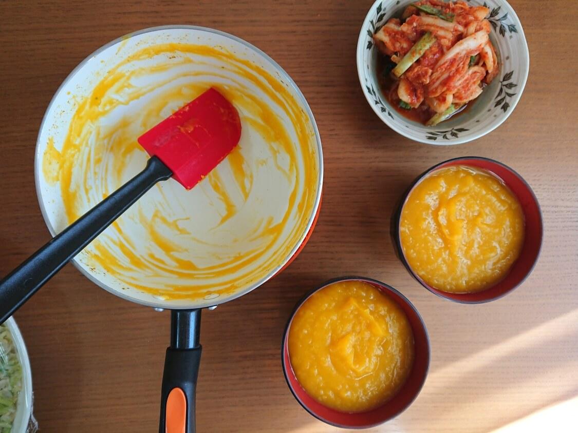 かぼちゃ粥(スープ)の作り方。完成