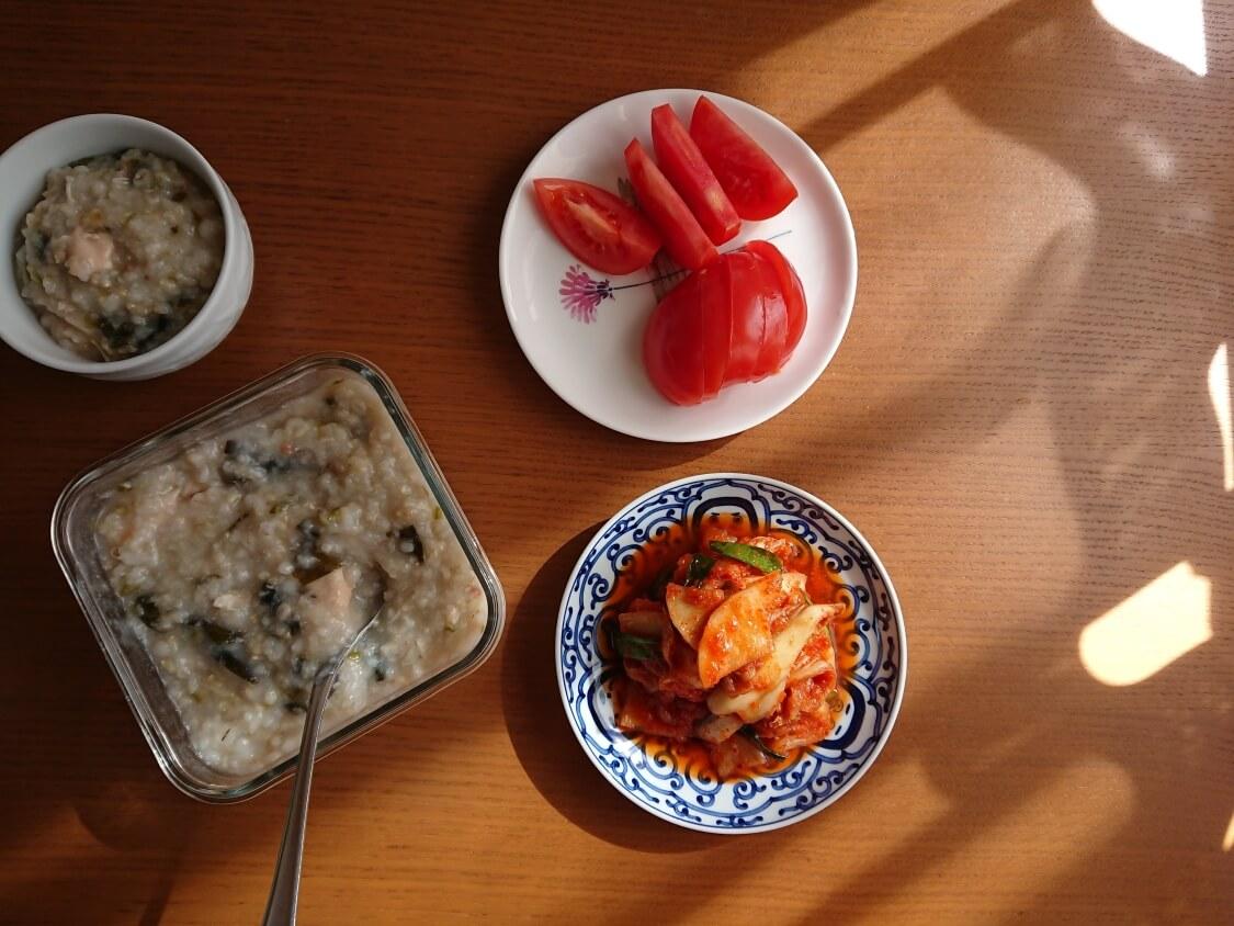 痩せるおかゆ!ダイエット食「沼」のレシピ。合うおかずとキムチ