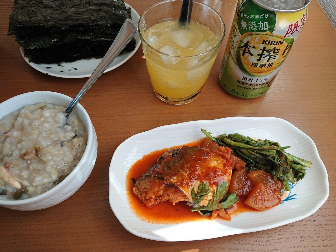 サバの煮付け(韓国コドゥンオチョリム)の作り方。献立と付け合わせ。おつまみにもよし