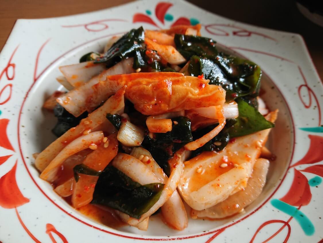 わかめの韓国式ピリ辛酢の物(酢コチュジャン和え)の作り方