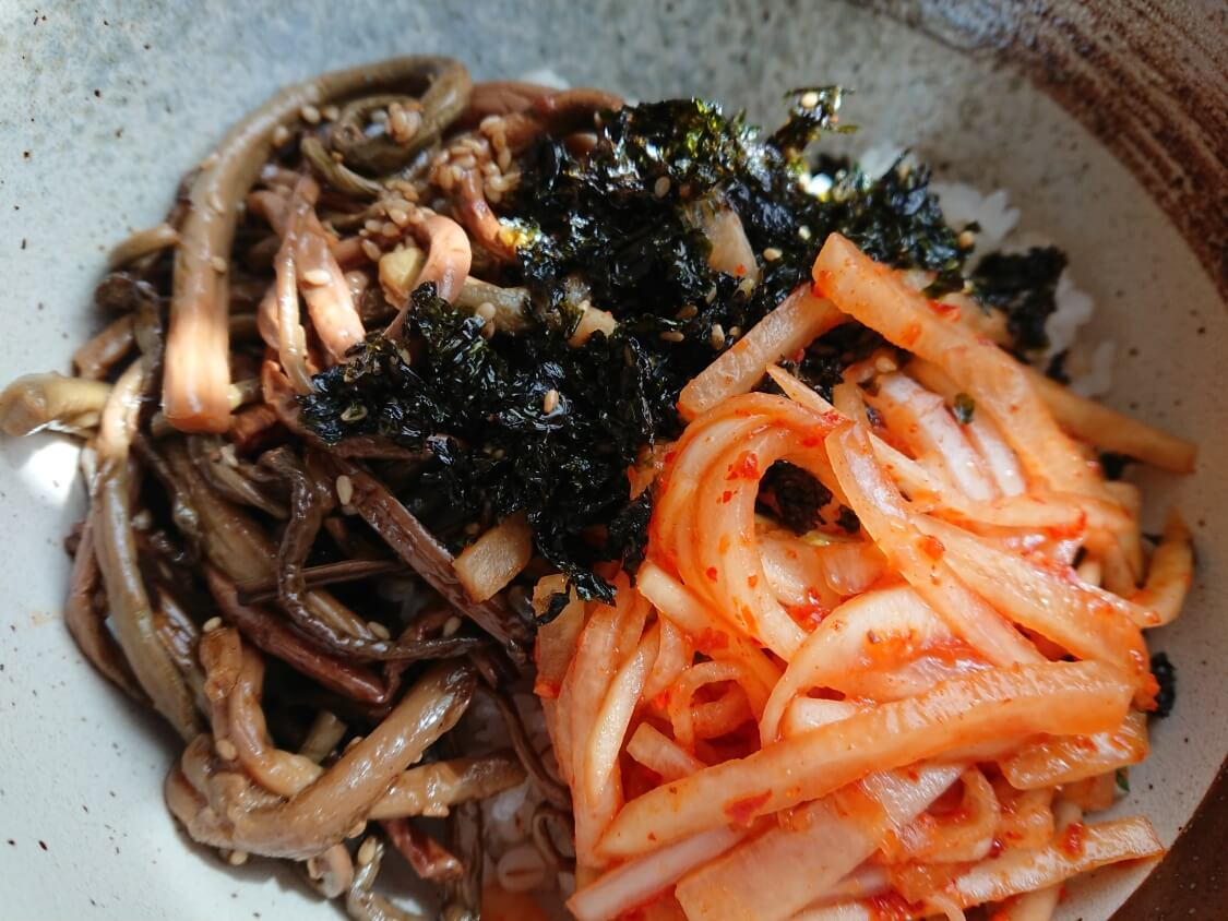 ビビンバのおすすめ具、韓国海苔のフレイク