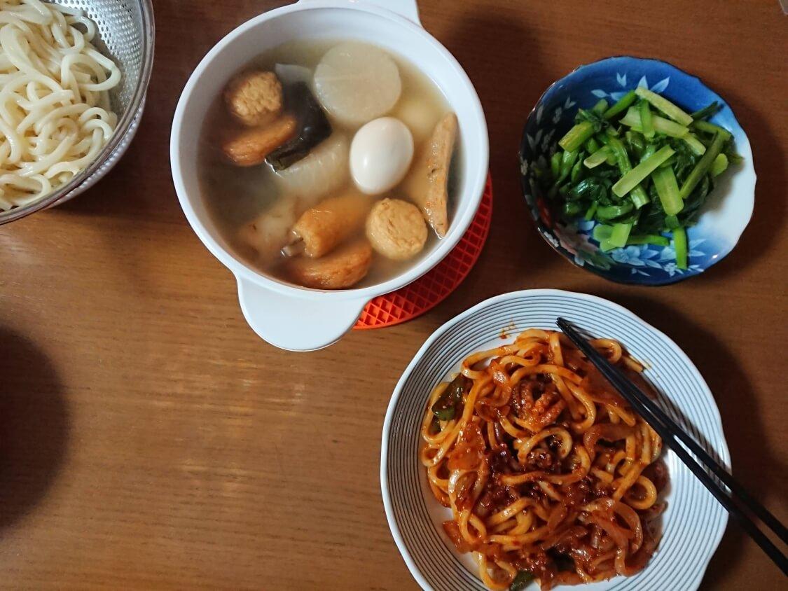 イイダコの旨辛炒め(チュクミポックム)の韓国レシピ。人気のおつまみ☆残りで焼きうどん