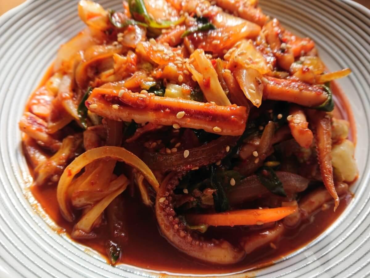 イカの旨辛炒め(オジンオポックム)の韓国レシピ