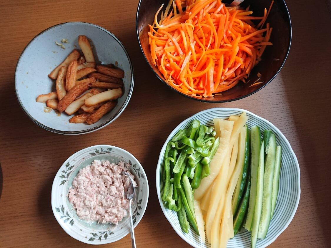 火を使わない!簡単ツナキンパ+野菜キンパの作り方。入る具材と野菜