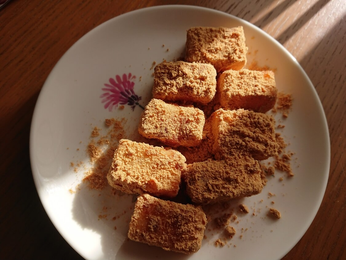 切り餅で簡単!きな粉餅の作り方。盛り付け
