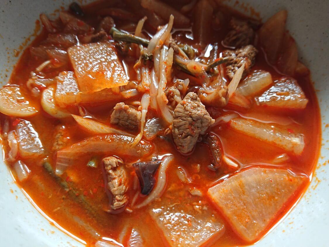 ユッケジャンスープのレシピ