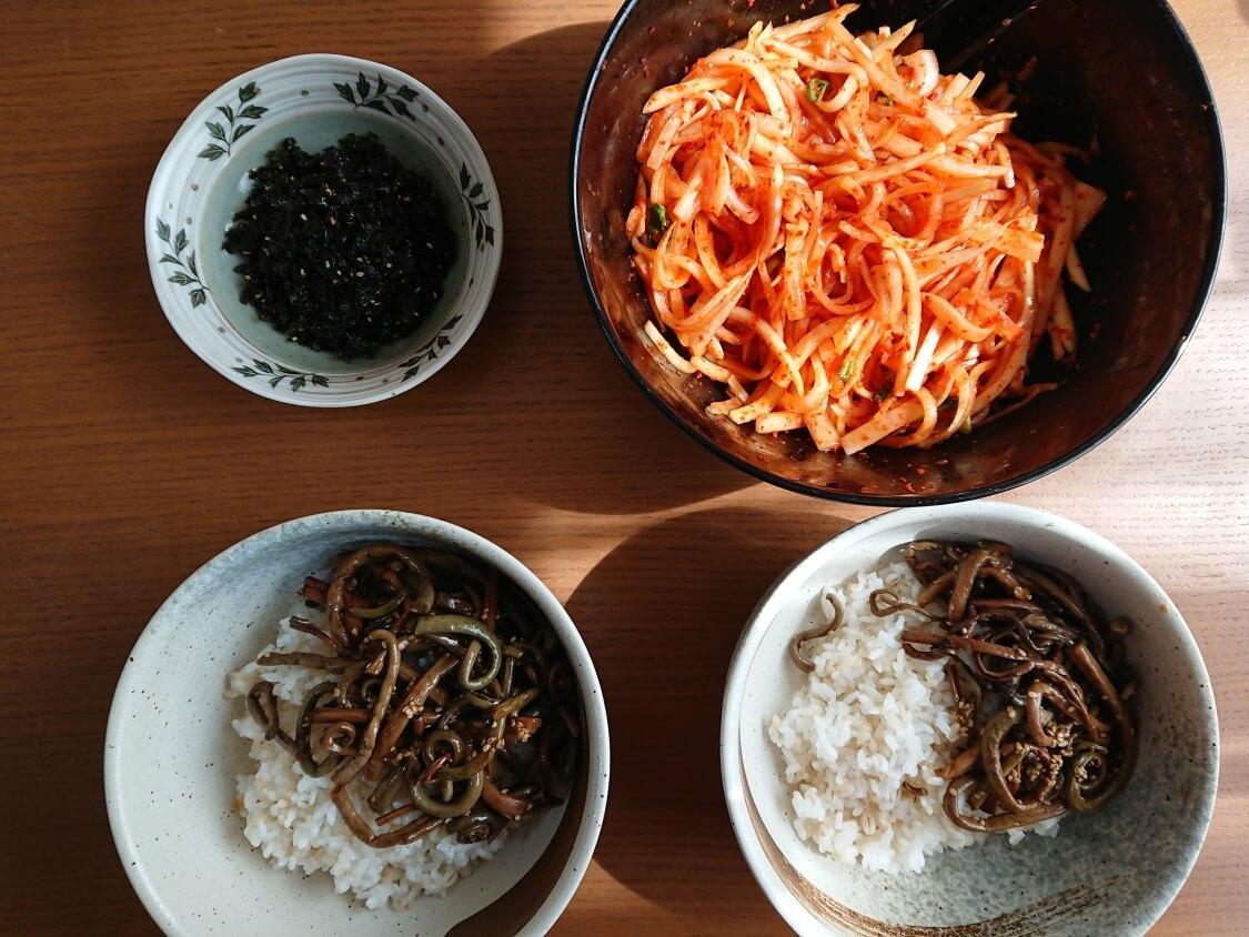 ぜんまいナムル+韓国わらびナムルの人気レシピ。ビビンバの具材に最高!