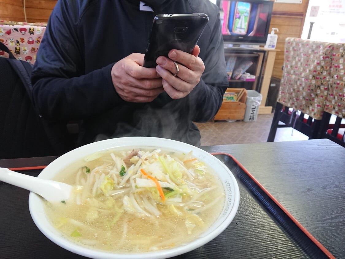 古い中華料理屋さんのちゃんぽん