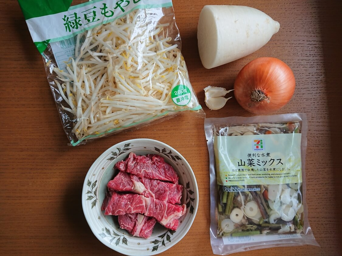 簡単!うま辛ユッケジャンの韓国人気レシピ。材料と調味料