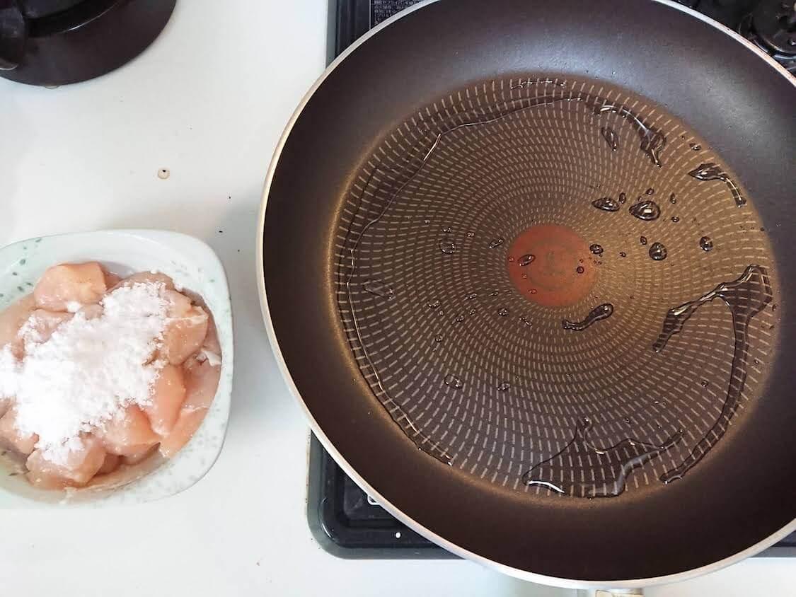 ニンニク香る♪ささみの甘辛キチン。詳しい作り方。揚げずにフライパンで焼いて作る