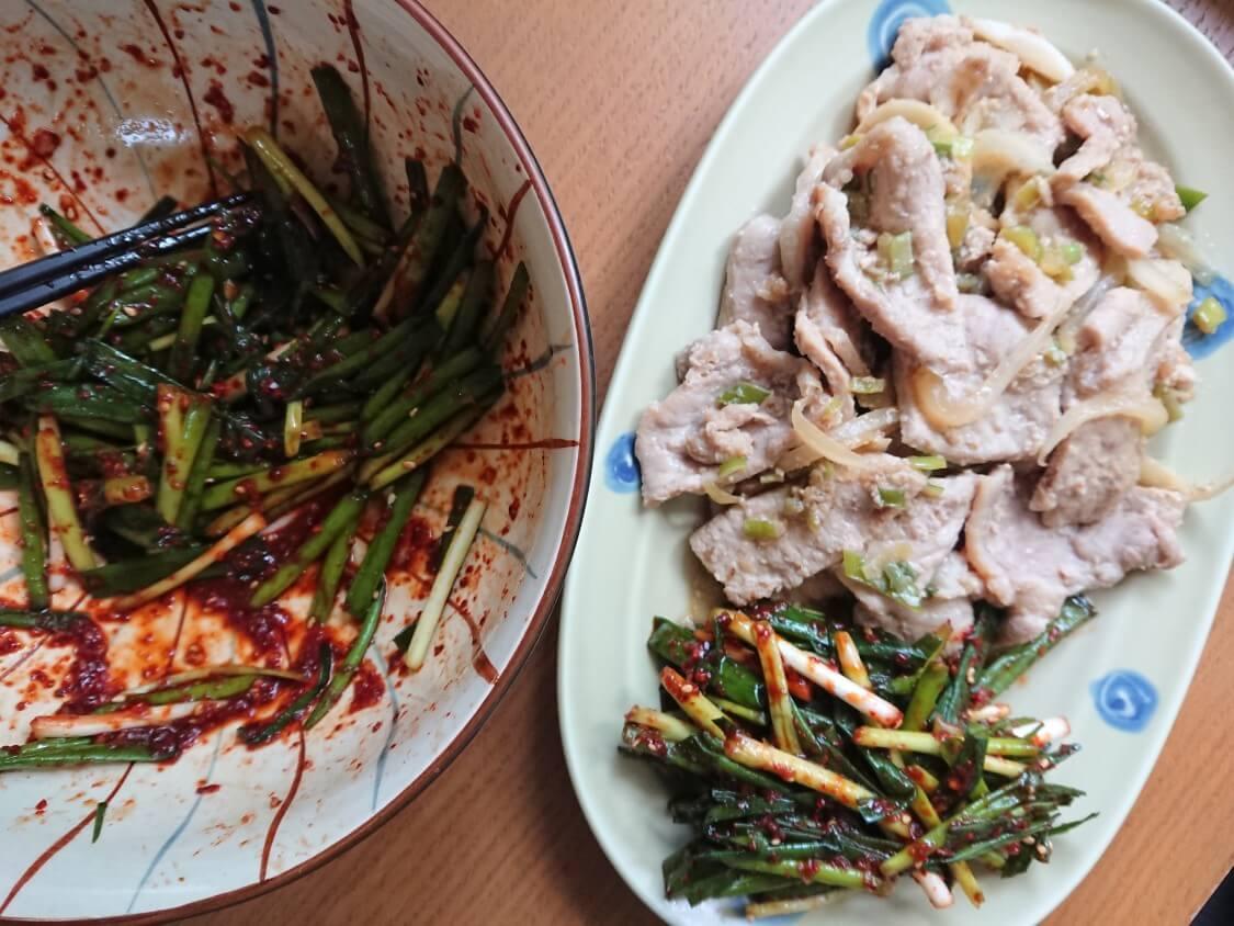 簡単!わけぎ/小ねぎキムチの韓国レシピ。焼き肉、プルコギ、サムギョプサルの付け合わせに