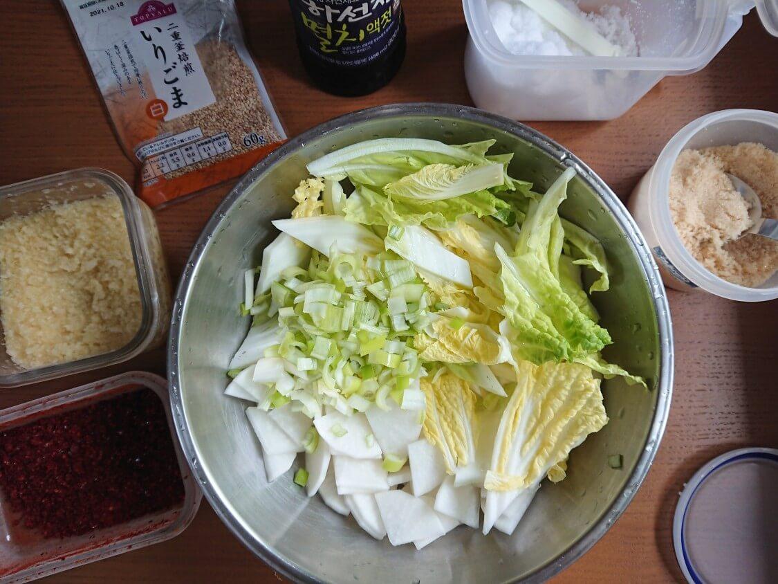和えるだけ!白菜キムチの簡単レシピ。基本ヤンニョムの調味料