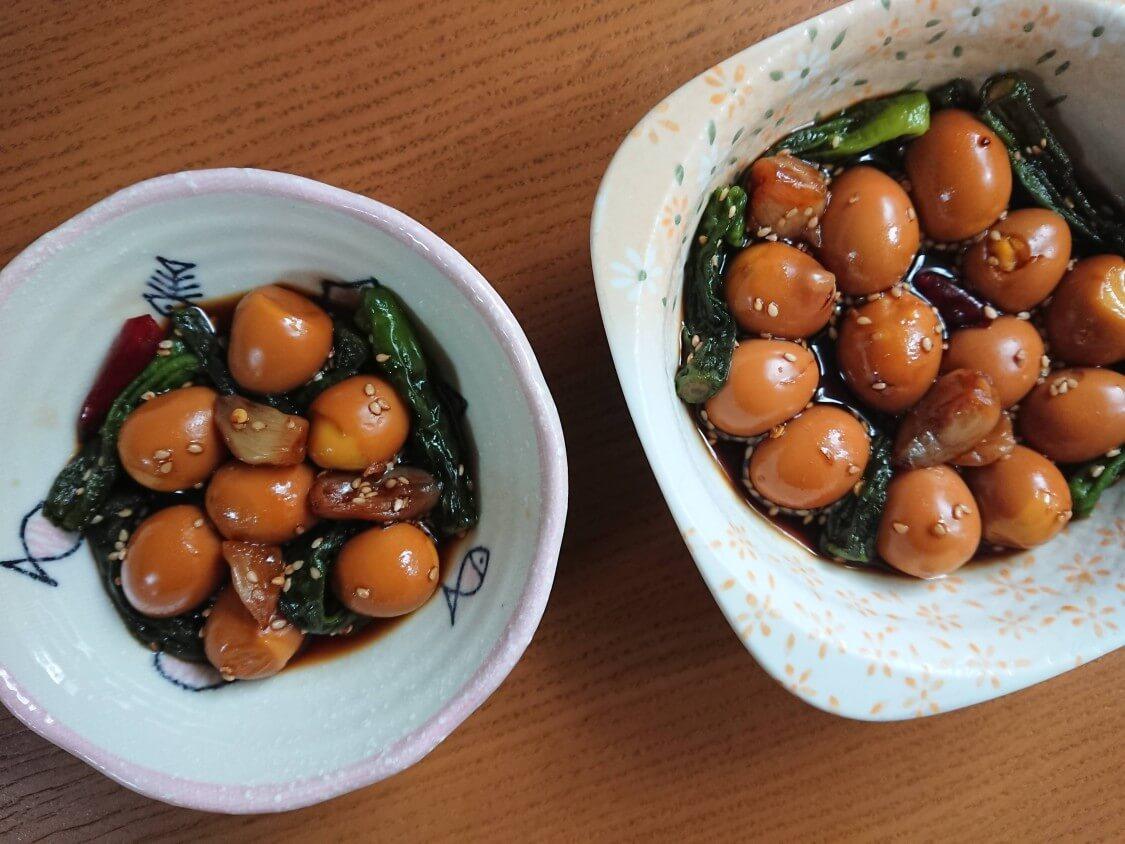 うずらの卵の醤油煮、韓国の人気レシピ。お弁当・作り置きおかず♪具材のアレンジも