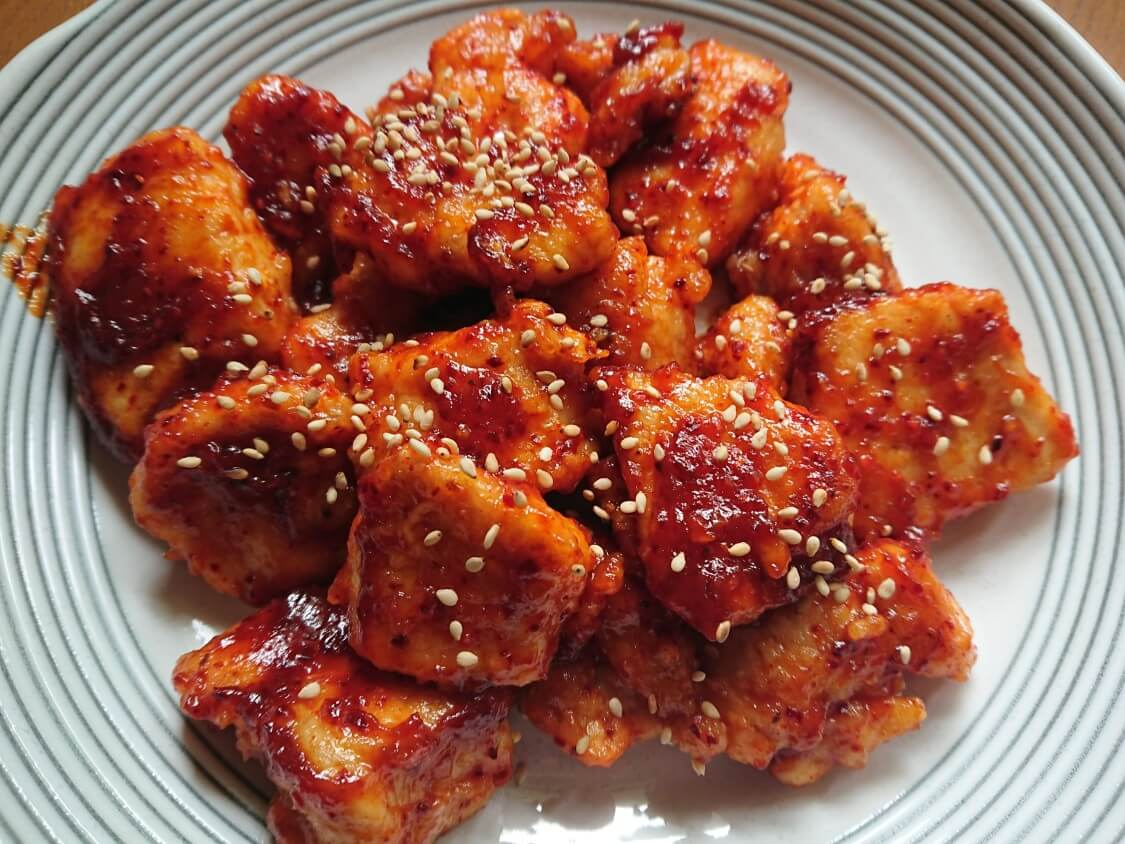 甘辛ヤンニョムチキンのレシピ
